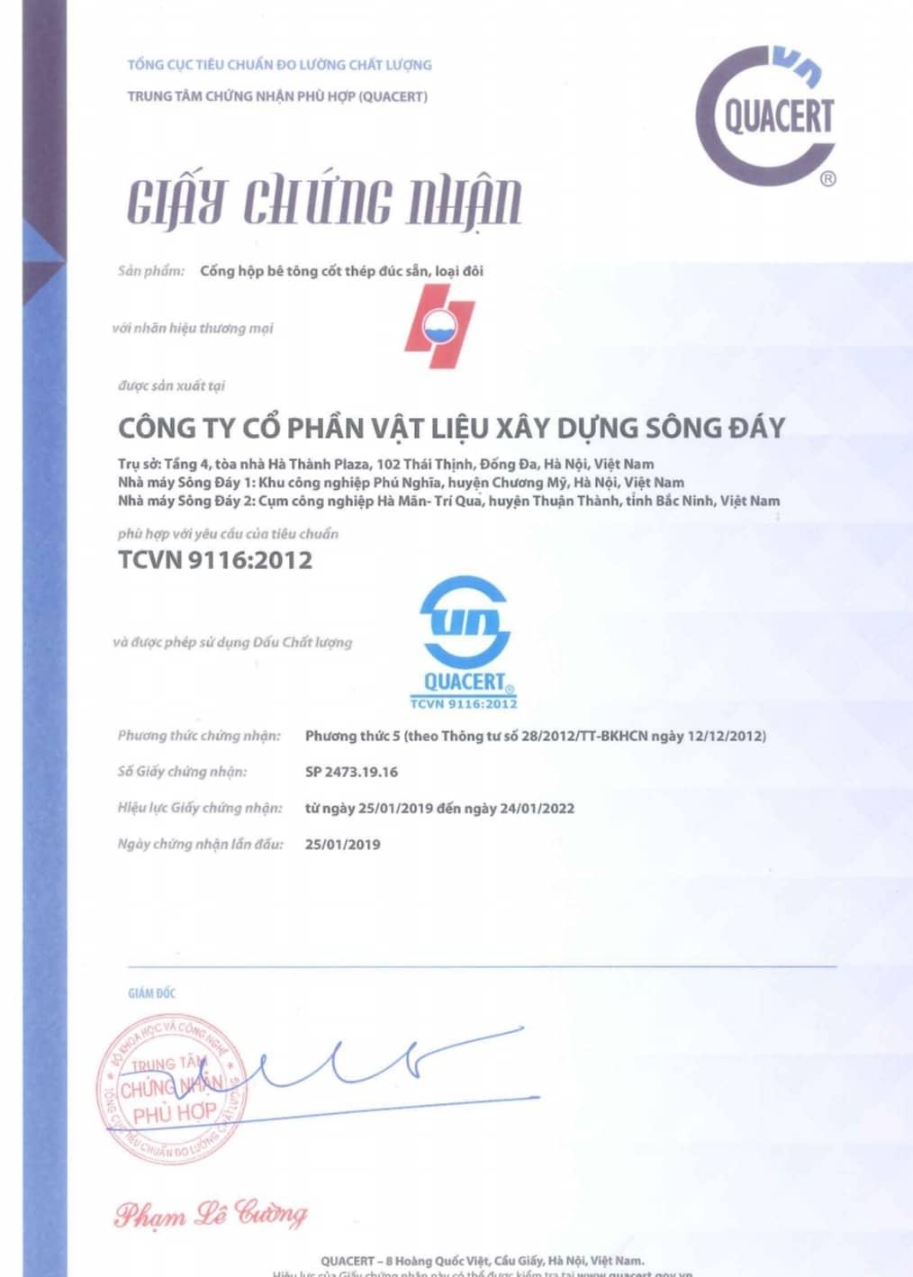 Tieu chuan cong hop doi be tong cot thep duc san Song Day